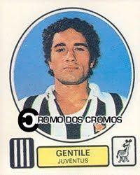 Cromo nº 1296 - Claudio Gentile, Campeão Mundial em 1982, nunca deixará de ser lembrado pela dureza que usava em campo. Com mais de uma década passada na Juventus, este defesa italiano - curiosamente nascido na Líbia - foi mais de 70 vezes internacional, marcando presença em dois Mundias (78 e 82) e um Europeu (80).