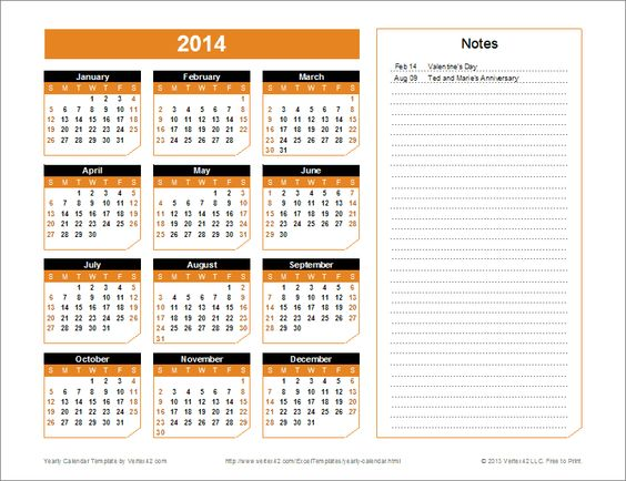 Monthly Calendar You Can Edit : A great calendar template for yearly planning you can