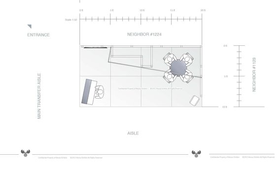 10 x 20 trade show exhibit floor plan design rcs 10 x for Trade show floor plan design