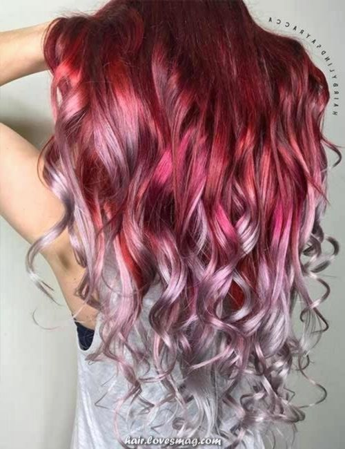 Unique And Creative Probably The Most Hanging Hair Colour Who Doesn T Like Coloured Hairstyle Hair Styles Hair Color Hair Color Pink