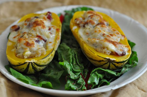 delicata squash with apple pecan quinoa stuffing | Recipes: tried and ...
