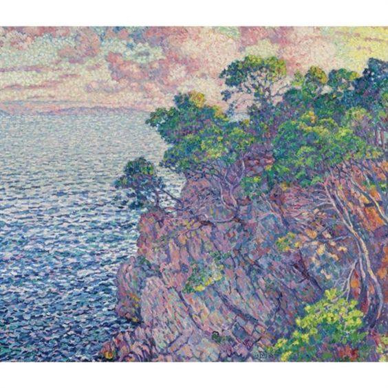 Théo van Rysselberghe - LA POINTE DU ROSSIGNOL (CAP LAYET); Creation Date: 1905; Medium: oil on canvas