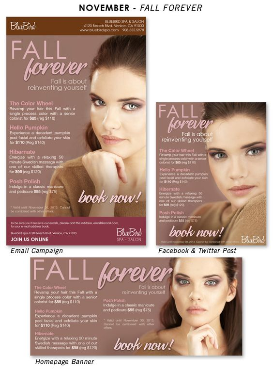 Fall Forever Ready-To-Wear Salon Marketing Campaign | Salon ...