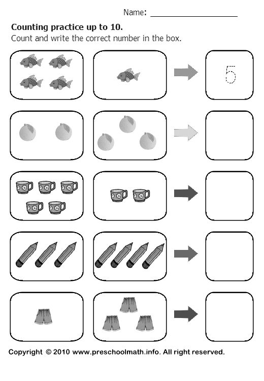 Counting To 10 Worksheets For Kindergarten #2 | Dot numbers ...