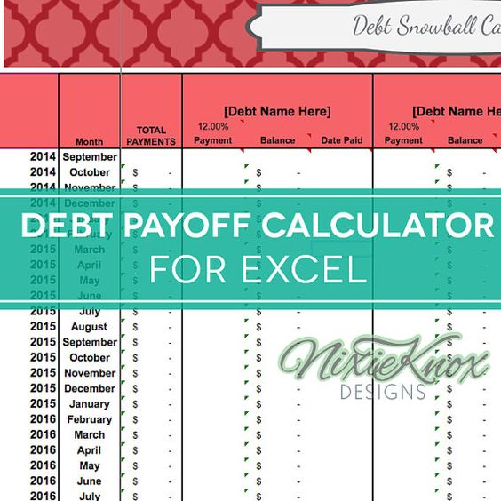debt payoff calculator for excel  track your interest