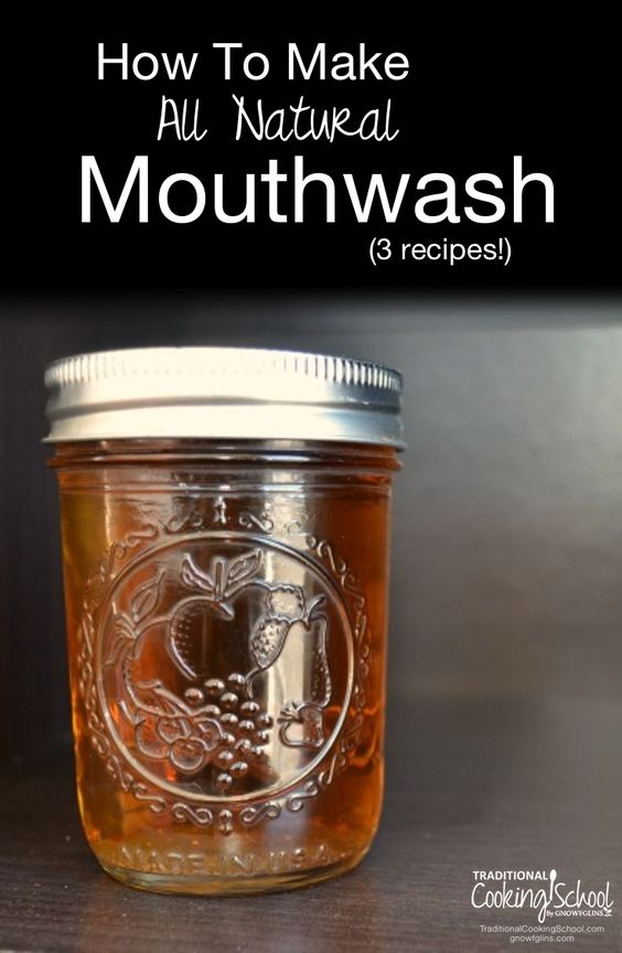 How to Make All-Natural Mouthwash (3 Recipes) | Recently that I discovered just how easy it can be to make mouthwash. Happy discovery! It cleans teeth and gums naturally, it's inexpensive, it's made from good and simple ingredients that I recognize (no chemicals or unnatural dyes!), and it gives me peace of mind. Here are three fresh and easy mouthwash recipes. | TraditionalCookingSchool.com