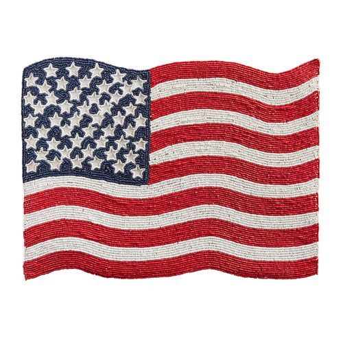 Beaded American Flag Placemat | Pier 1
