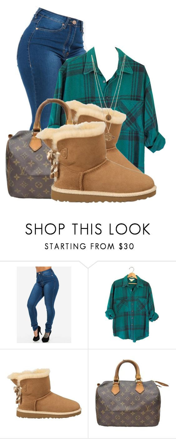 """""""Ugh"""" by beautiful-image on Polyvore featuring UGG Australia, Louis Vuitton, Bee Charming, women's clothing, women's fashion, women, female, woman, misses and juniors"""