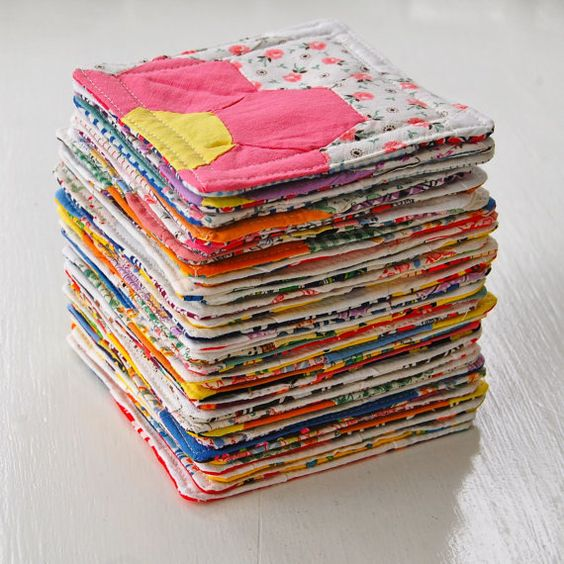 Cute Coasters Up Cycled From Vintage Quilt Tops Jcasa