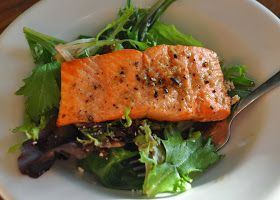A LA GRAHAM: BROILED SALMON