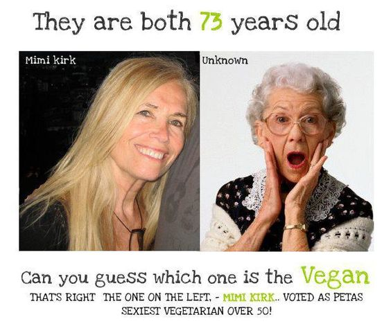 They're both 73 years old. Can you guess which one is vegan?  There is definitely a great way to eat.