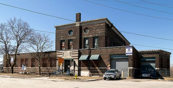 20150203. Toronto's 1933 derelict art deco former incinerator and waste transfer station at 150 Symes in the Stockyards district.