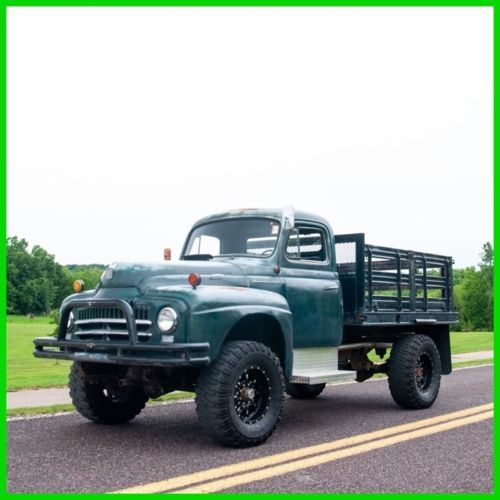 1951 International Harvester L 162 4x4 Stake Bed Truck Old Trucks
