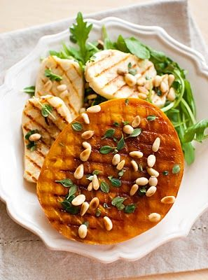 Scandi Home: Grilled Mango Cheeks with Haloumi, Pine Nuts and L...
