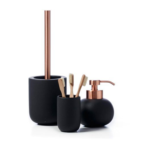 high grade copper bathroom accessories set black rubble painting towel bar toilet paper rack robe hook soap dish cup holder in bath hardware sets f