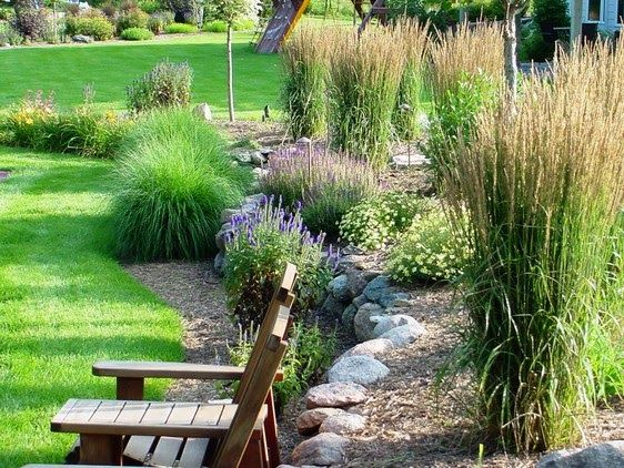 Fall planters landscaping and grasses on pinterest for Garden ideas with ornamental grasses