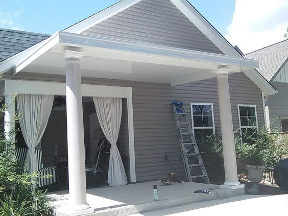 The Valuable Aspect Of Porch Awnings Topsdecor Com In 2020 Porch Awning Aluminum Awnings Porch Design