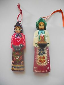 painted wood ornaments