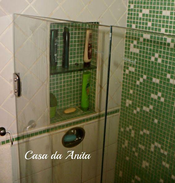 Casa da Anita: Nichos em banheiros