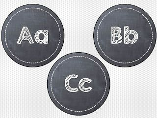 """Chalkboard word wall headers FREEBIE for you...  4"""" circles... just laminate, cut out, and hang up!"""