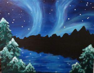 Northern Lights | Pinot's Palette Estero December 19 Class