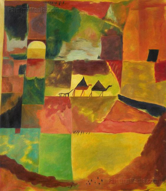 Paul Klee With Two Dromedaries And A Donkey 1919