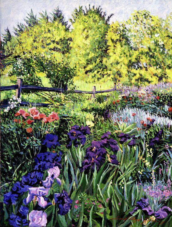 David Lloyd Glover (b.1949) —  Purple Garden, 2011  (684x900):