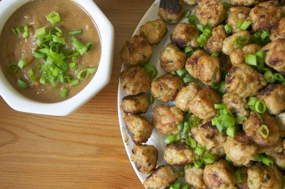 Chicken Satay Meatballs | Recipe | Chicken Satay, Chicken and Recipe