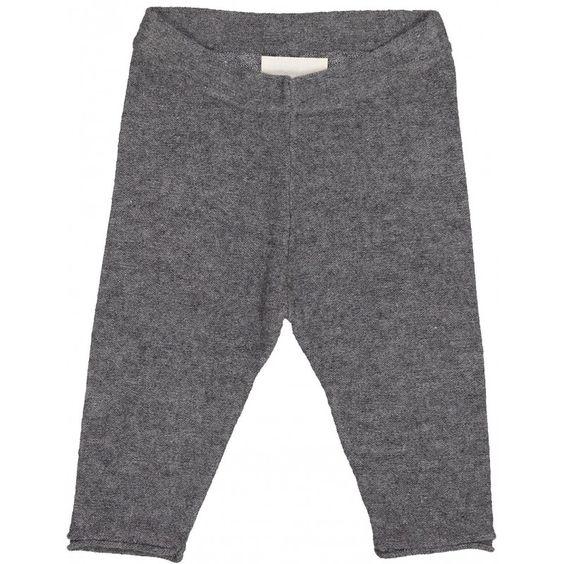 Legging Bébé SOURIS gris en laine et cachemire
