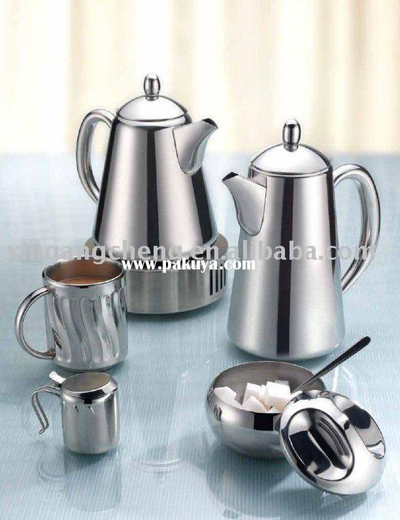 Metal Tea Serving Set Stainless Steel Coffee And Pot Type Pinterest Types Pots Teas