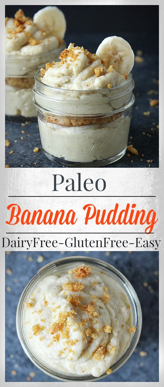 Paleo Banana Pudding- 6 ingredients and less than 20 minutes cook time. Dairy…