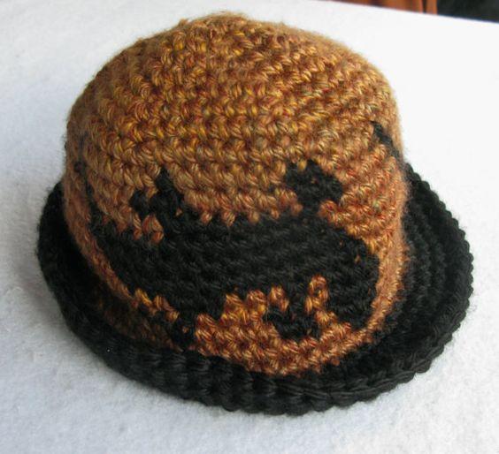 Tapestry Crochet Cloche Rimmed Hat Gecko Pattern by WowwyGaZowwy