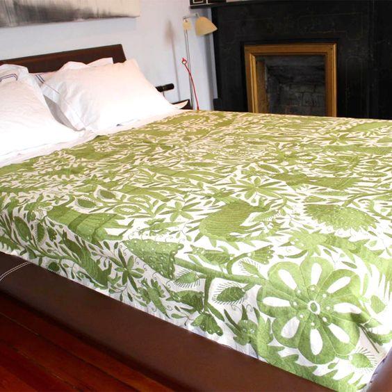 Fab.com   Otomi Bedspread Green