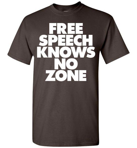 Free Speech Knows No Zone Gildan T-Shirt