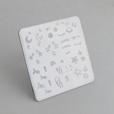 Clear Jelly Stamper- Sea and Stars Doodle (19)