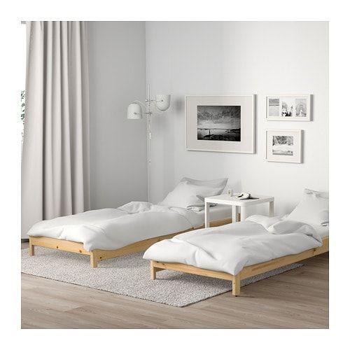 Utaker Stackable Bed With 2 Mattresses Pine Husvika Twin Ikea