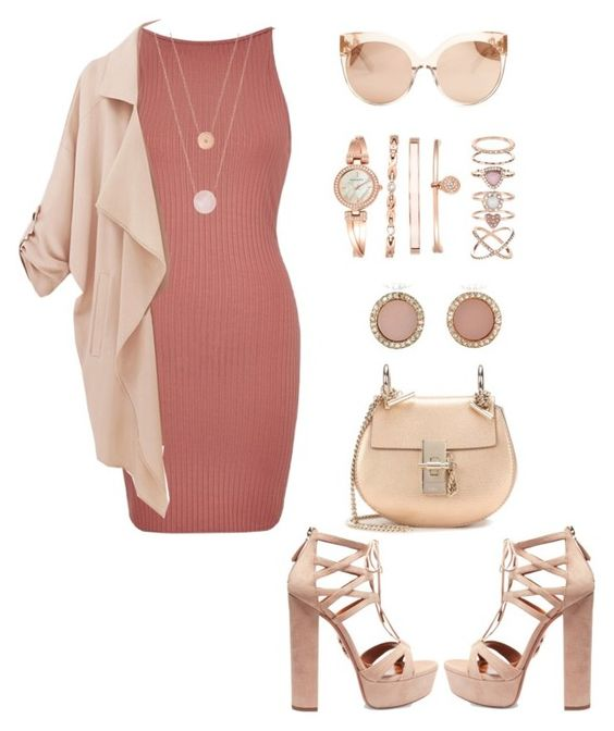"""""""Simple as that no.111"""" by ronnie-27 ❤ liked on Polyvore featuring River Island, Aquazzura, Michael Kors, Anne Klein, Linda Farrow, Chloé and Accessorize"""