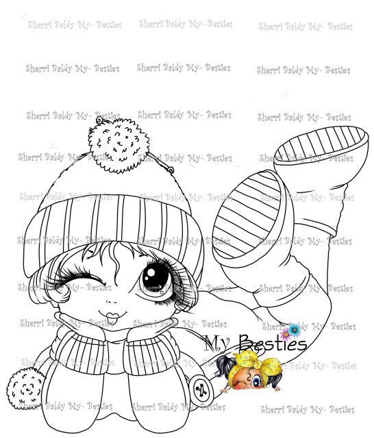 Instant Download Little Winter Darling Besties Doll 18a Digi Stamp Digi Stamp Digi Stamps Besties