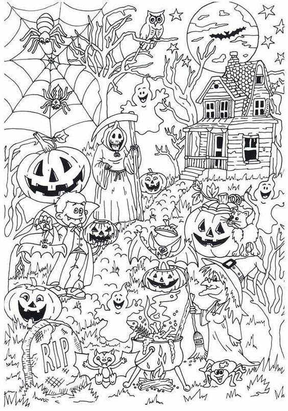Omeletozeu Coloriage Halloween Coloriage Et Livres A Colorier