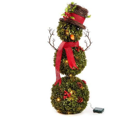 Winter Wonder Lane Light Up Battery Operated Topiary Snowman 36 Christmas Clearance Outdoor Christmas Decorations Holiday Decor