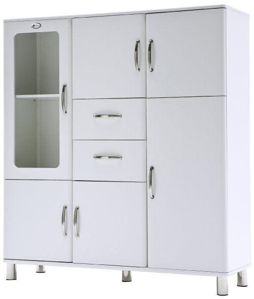 Tenzo 5237-005 Malibu - Designer Doppelvitrine \/ Schrank 150 x 120 - kommode für küche