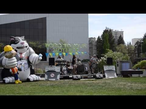 Real Life Rockaz at Climate Change Rally Spokane Washington 5-11-13