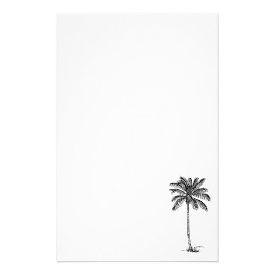Coconut Palm Tree Line Drawing Stationery Palm Tree Drawing Small Palm Trees Palm Tree Outline