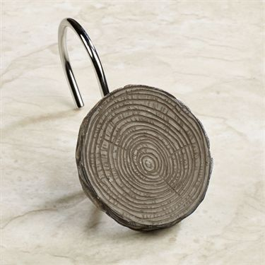 Tree Bark Rustic Shower Hook Set