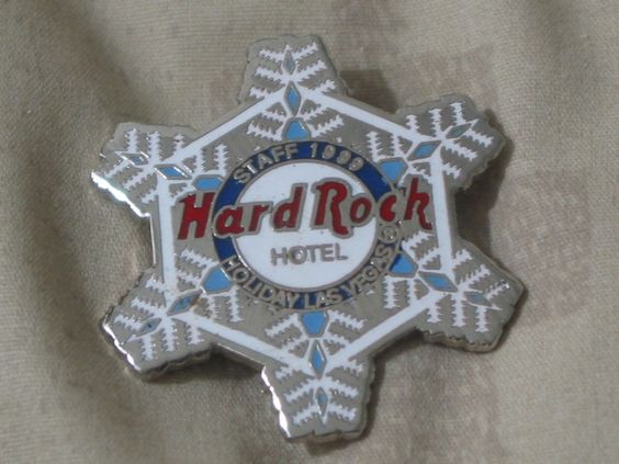 A Junkee Shoppe Junk Market Stop: HARD ROCK Hotel Las Vegas 1999 Staff Christmas Pinback ... For Sale Click Link Here To View >>>> http://ajunkeeshoppe.blogspot.com/2015/12/hard-rock-hotel-las-vegas-1999-staff_31.html