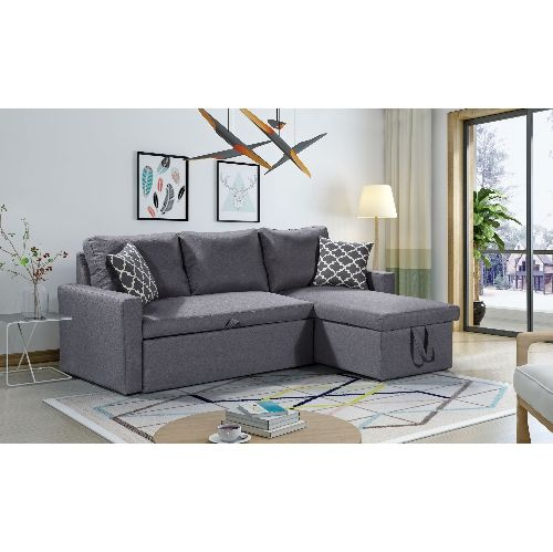 Husky Zara Reversible Sectional Sofa 3 In 1 Sofa Bed Storage Grey Sofas Best Buy Canada Sofa Bed With Storage Bed Storage Living Room Styles
