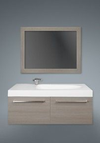 "2 DRAWER SILHOUETTE PLUS AVAILABLE IN: 38"" x 48"" #vanity #drawers #sink #lightcabinets #lightwood #bathrooms #interiordesign #renovations #CutlerKitchenandBath"