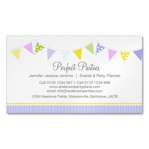 Bunting Party Event Planning Business Card Zazzle Com Bunting Business Ca Bun Event Planning Business Cards Event Planning Business Event Planning