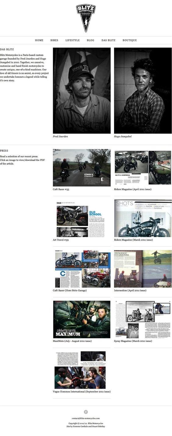 Blitz Motorcycles by Stuart Hobday, via Behance