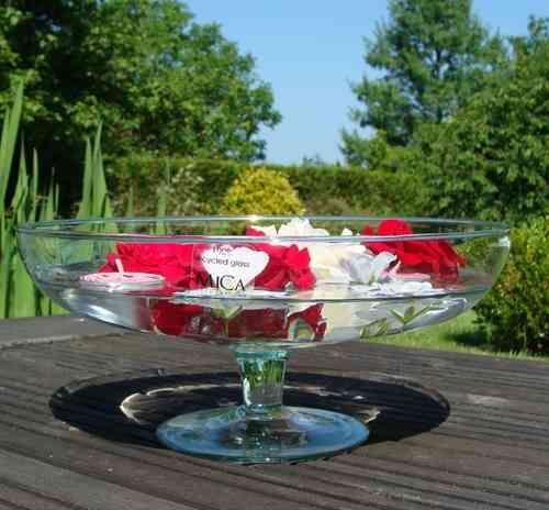coupe en verre sur pied centre de table mariage- tartifumedéco